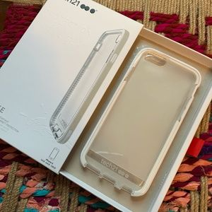 NEW Tech21 Iphone 6S case, clear with gold